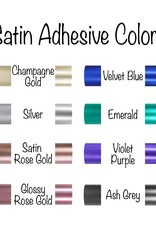 Satin/Chrome Adhesive Permanent Vinyl (12x12 Sheet)
