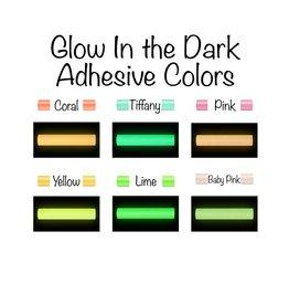 Glow in the Dark Adhesive Permanent Vinyl (12x12 Sheet)