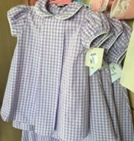 PEANUTS GALLERY PG Lilac gingham collared dress