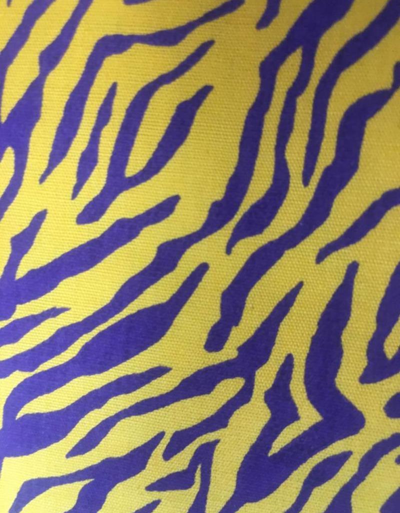 Fabric Finders FF Purple Gold Tiger Stripe