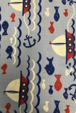 Fabric Finders ff red/blue fish and sailboat