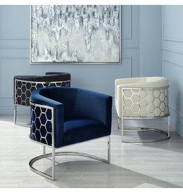 Xcella Honeycomb Chair: blue velvet