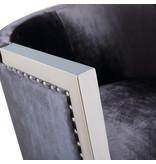 Xcella Elvis charcoal velvet chair