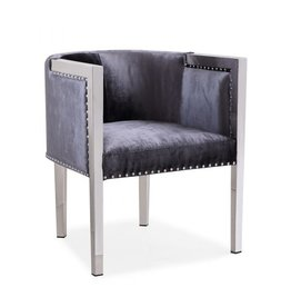 Xcella Elvis charcoal velvet chair