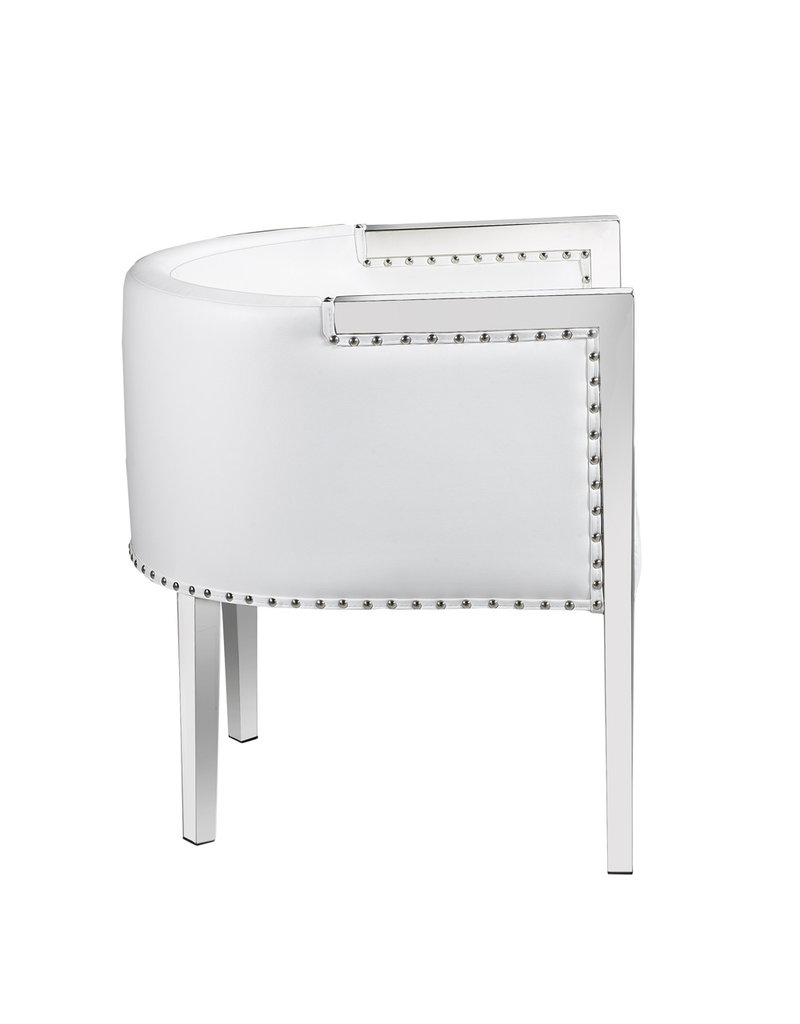 Xcella Elvis white leatherette chair