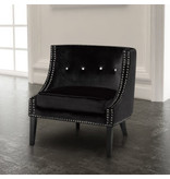 Xcella Lucy black velvet chair