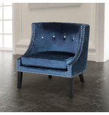 Xcella Lucy blue velvet chair