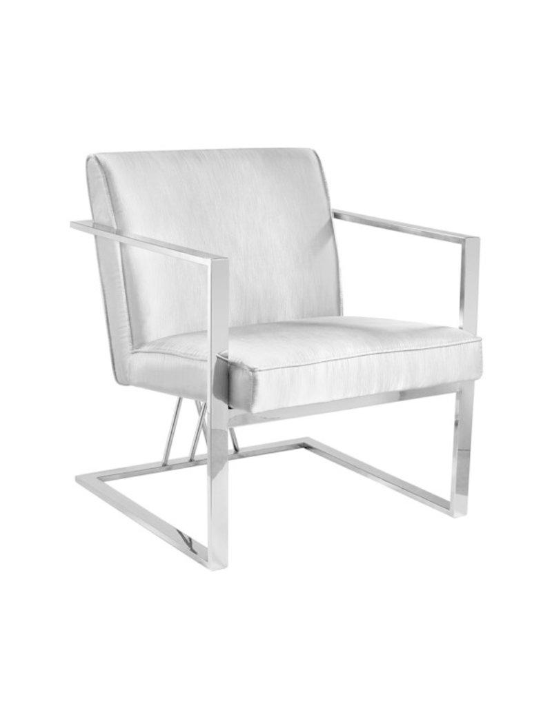 Xcella Fairmont chair: silver satin