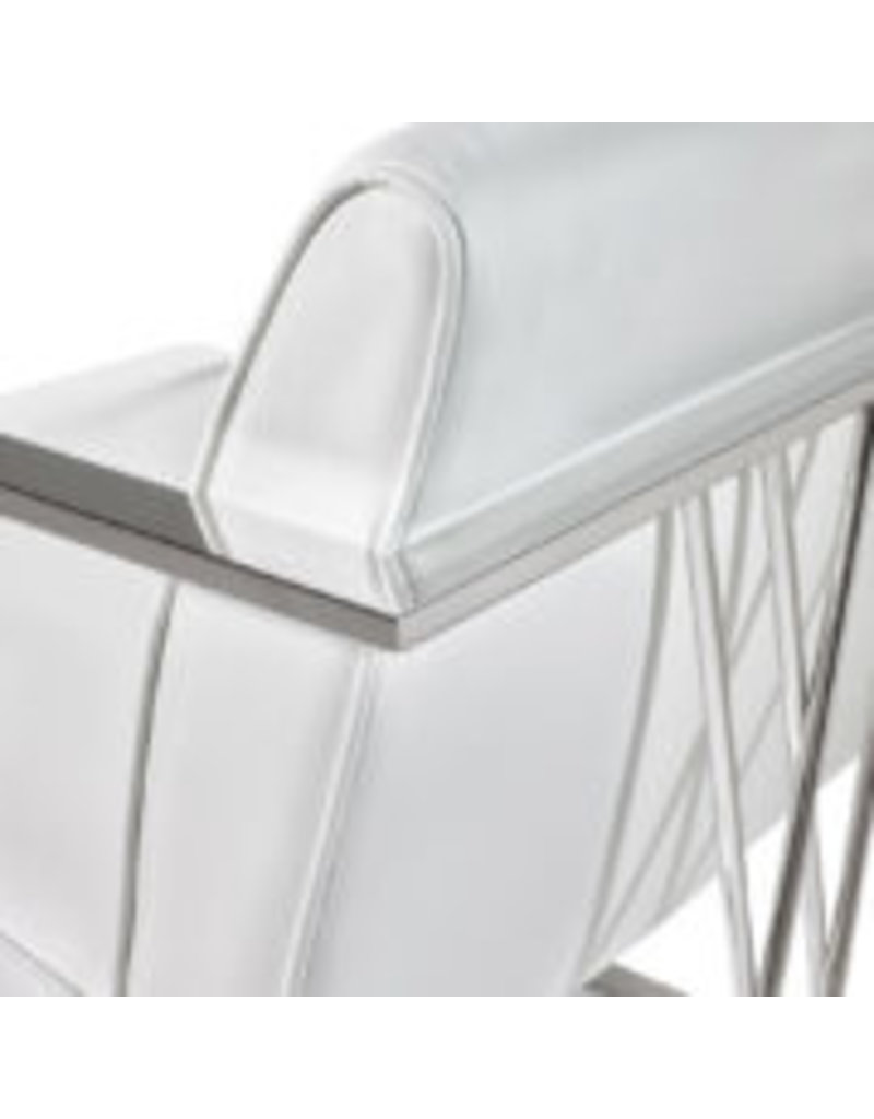 Xcella Fairmont chair: white leatherette