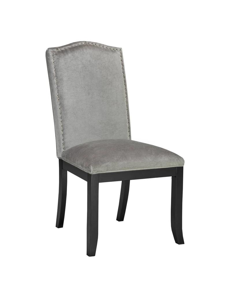 Xcella Valerie Grey Velvet Dining Chair