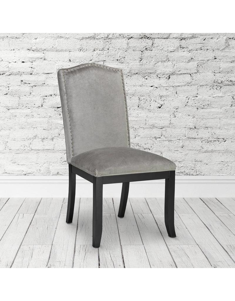Xcella Valerie Grey Velvet Dining Chair