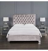 Xcella Kroma Velvet Grey King Bed