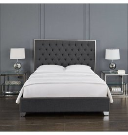 Xcella Kroma Salte Grey Queen Bed