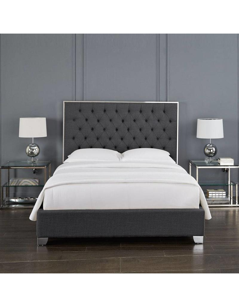 Kroma Bed Slate Grey Queen Bed Livin Style Furniture