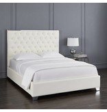 Xcella Kroma White Leatherette Queen Bed