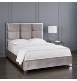 Xcella Blair Velvet Grey Queen Bed