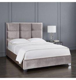 Xcella Blair Velvet Grey Queen Bed