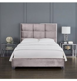 Xcella Blair Velvet Grey King Bed