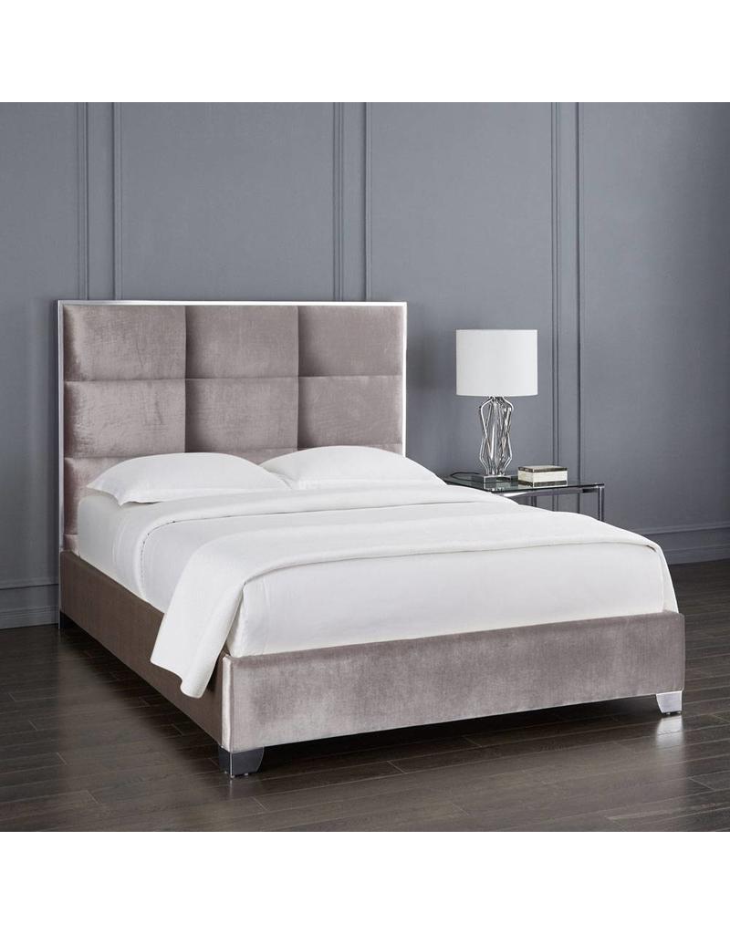 Xcella Blair Velvet Grey King Bed