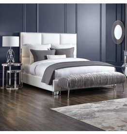 Xcella Blair White Leatherette King Bed