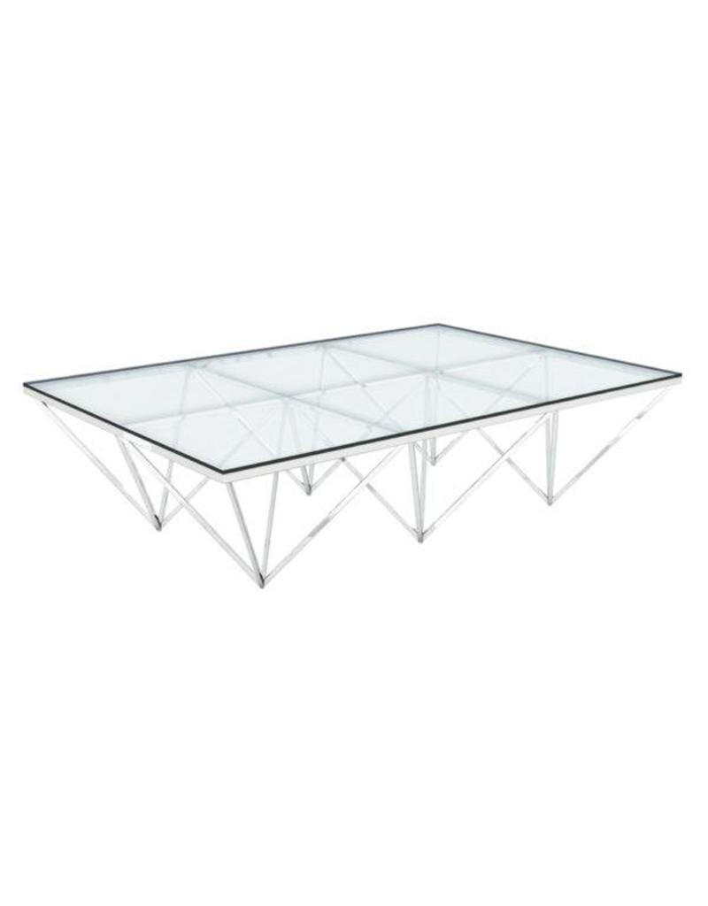Xcella Valentino Silver Coffee Table