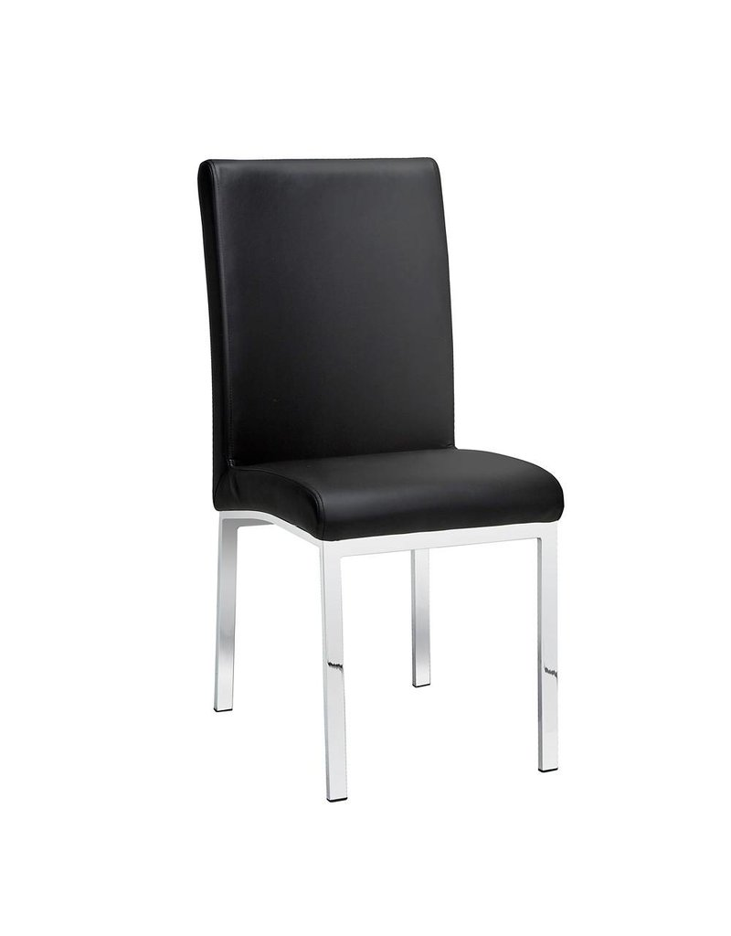 Xcella Victor Black Leatherette Dining Chair