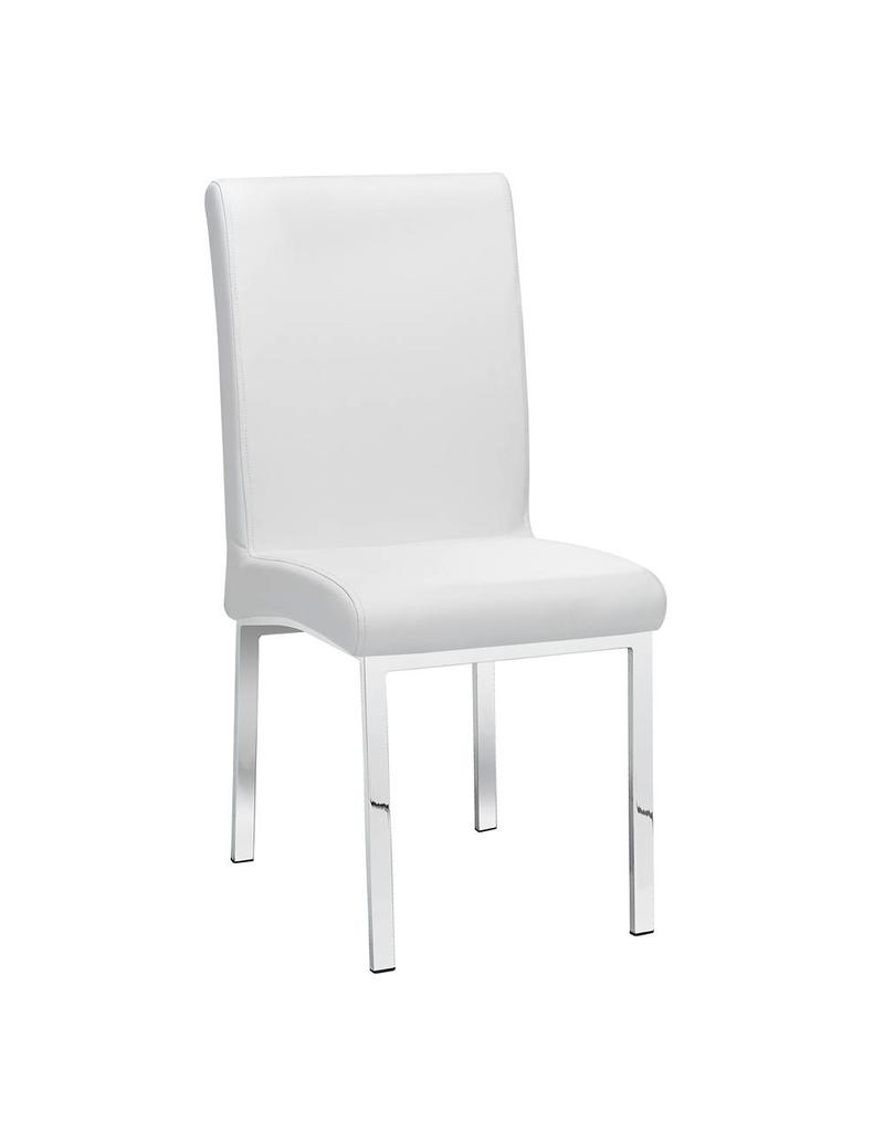 Xcella Victor White Leatherette Dining Chair