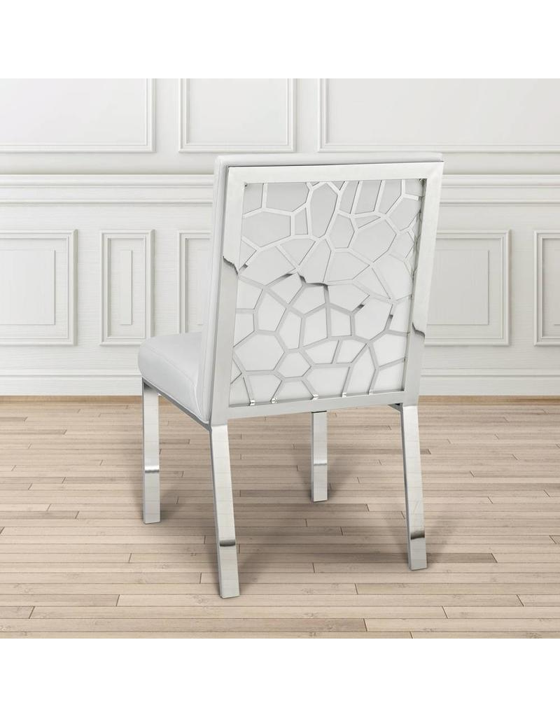 Xcella Wellington White Velvet Dining Chair