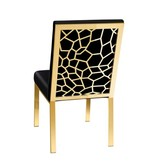 Xcella Wellington Black Velvet Dining Chair