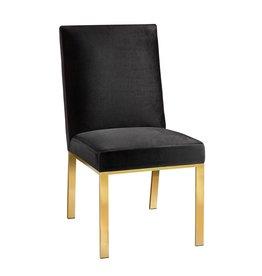 Xcella Wellington Black Velvet Dining Chair