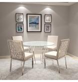 Xcella Wellington White Velvet Dining Chair