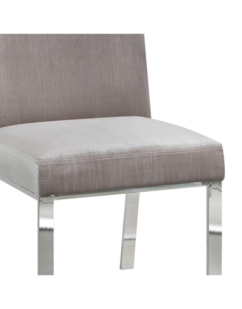Xcella Wellington Grey Velvet Dining Chair