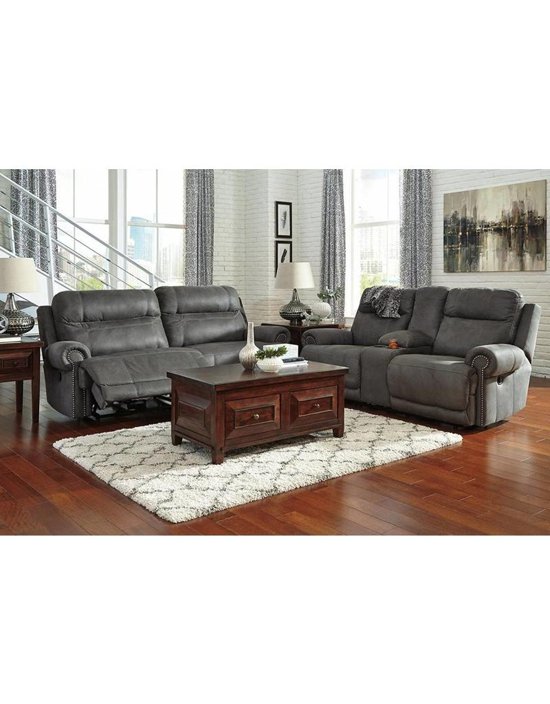 Ashley Furniture Austere Power Reclining Sofa- Grey
