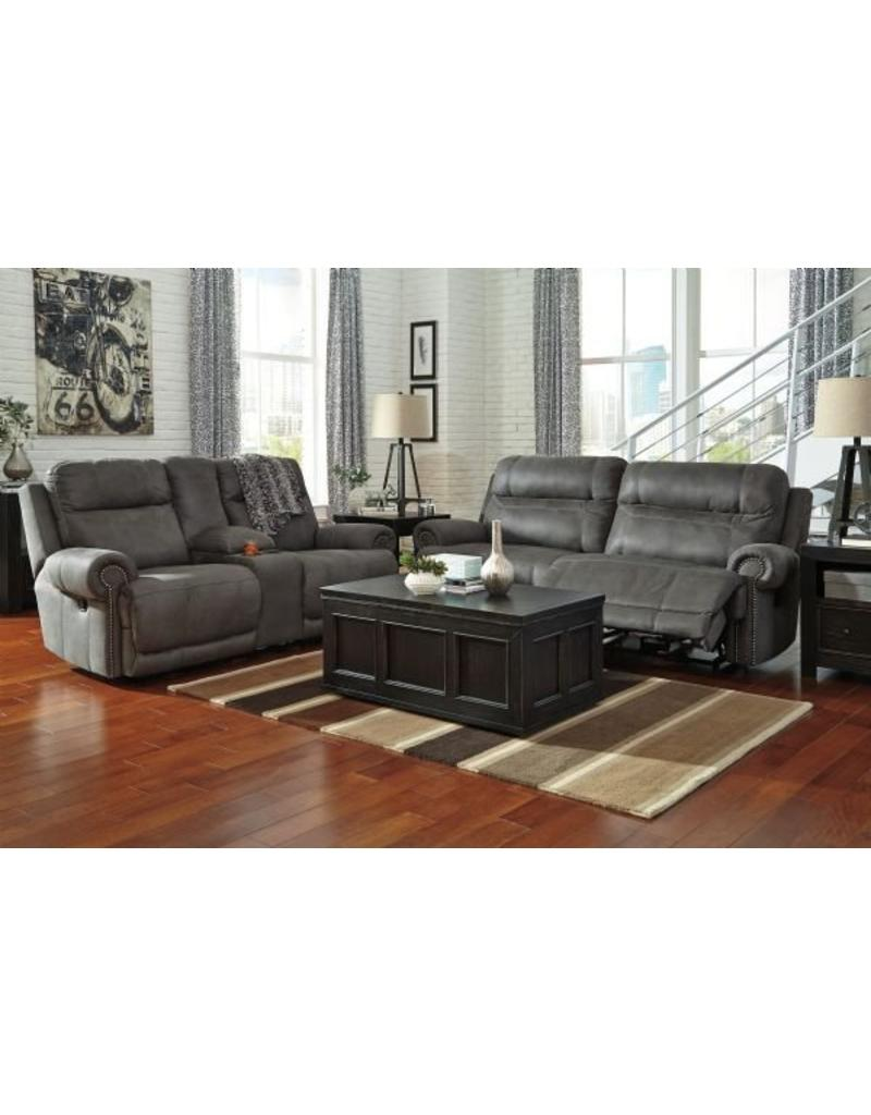 Austere Power Reclining Sofa Grey Livin Style Furniture