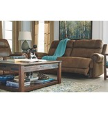 Ashley Furniture Austere Power Reclining Sofa - Brown