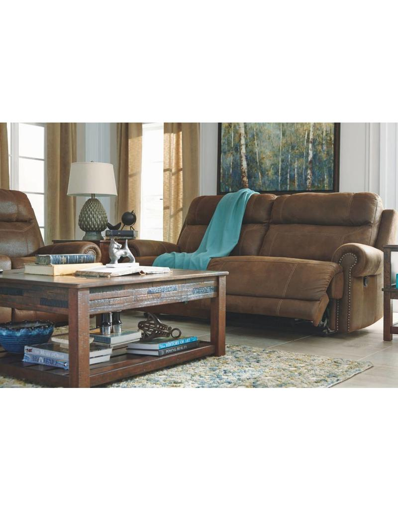Austere Power Reclining Sofa Brown Livin Style Furniture