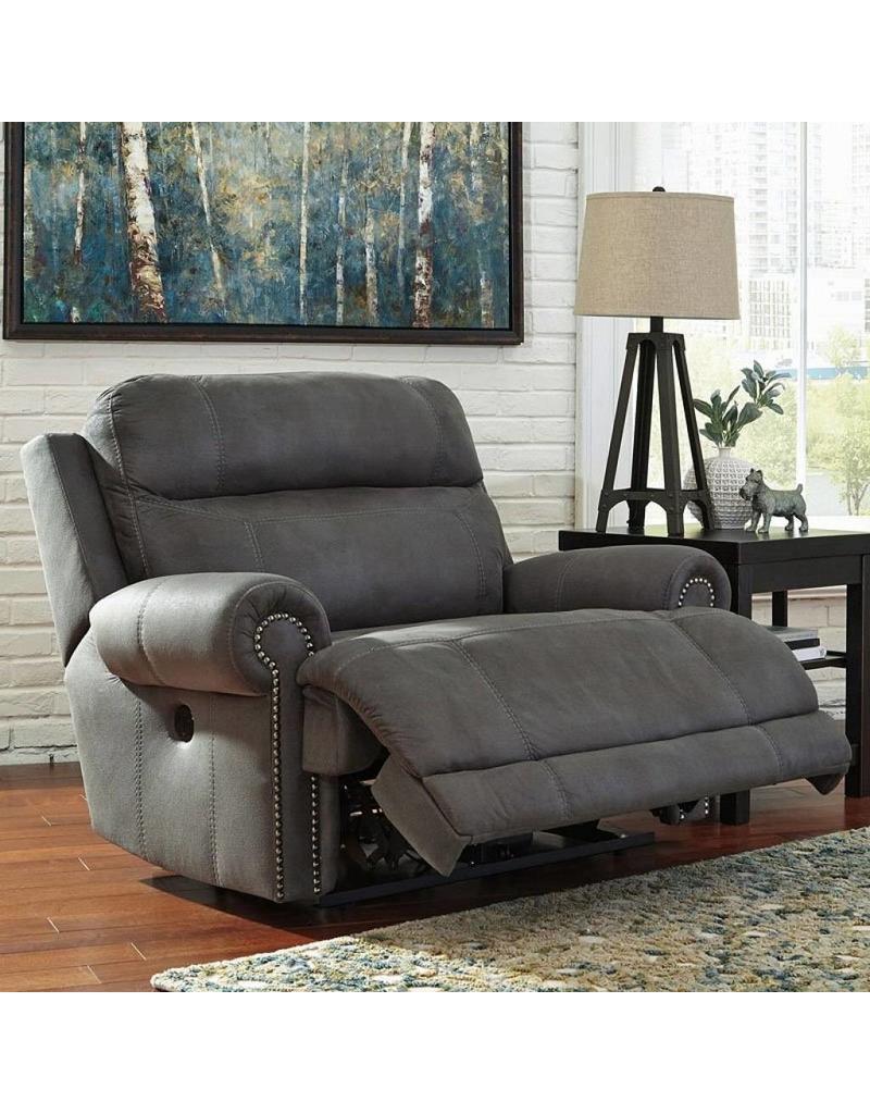 Genial Ashley Furniture Austere Power Reclining Chair  Grey ...
