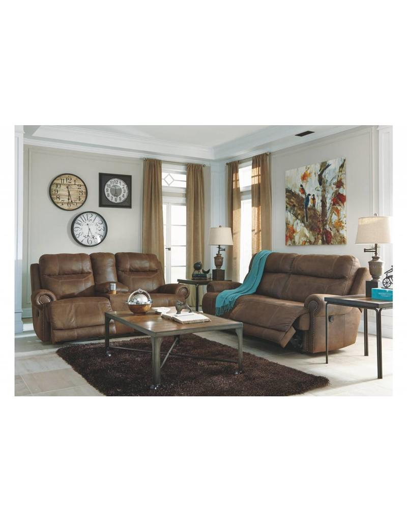 Ashley Furniture Austere Power Reclining Loveseat- Brown