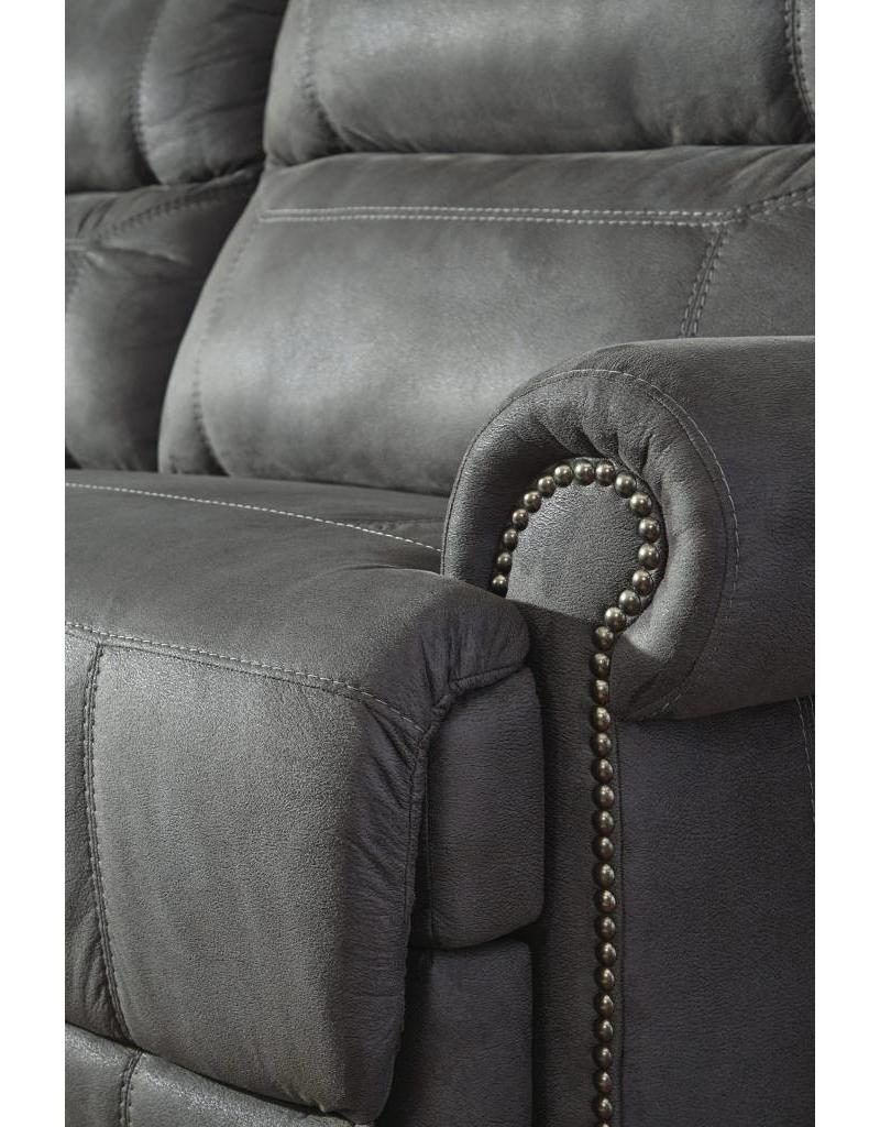 Ashley Furniture Austere Power Reclining Loveseat- Grey