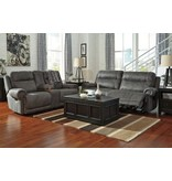 Ashley Furniture Austere Power Reclining Loveseat- Grey