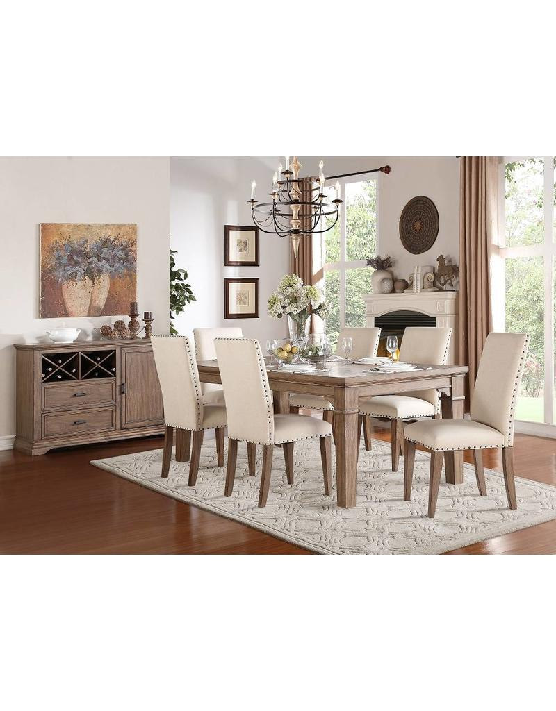 Mazin Mill Valley 7 Piece Dining Set