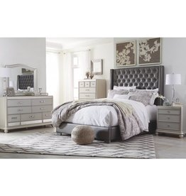 Ashley Furniture Coralayne 6 pc Queen UPH Bedroom Set