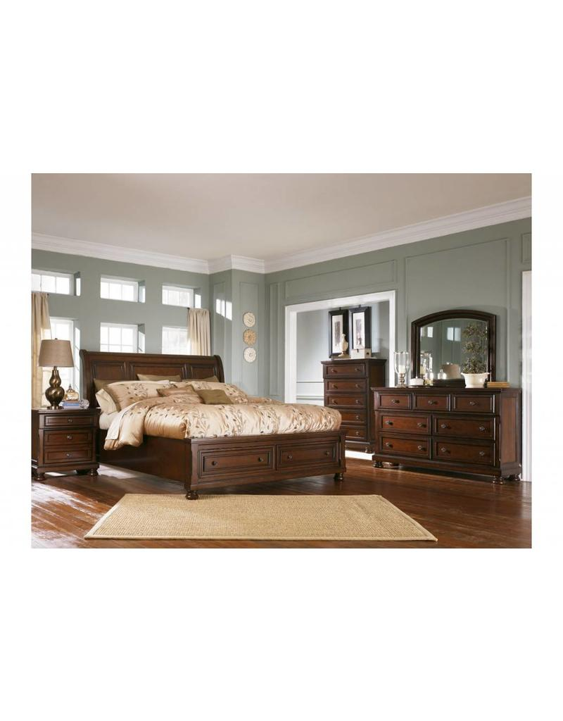 Porter 6 Piece Bedroom Set Queen Sleigh Livin Style Furniture