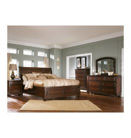 Ashley Furniture Porter 6 pc King Sleigh Bedroom Set