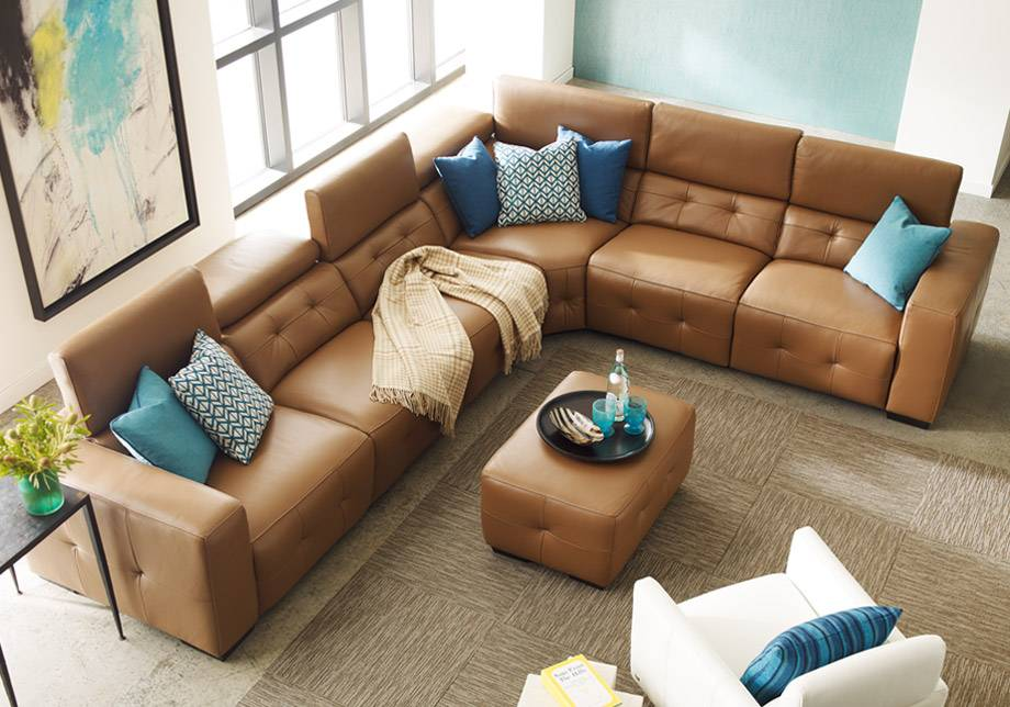 Fresno Leather Power Reclining Sectional Livin Style