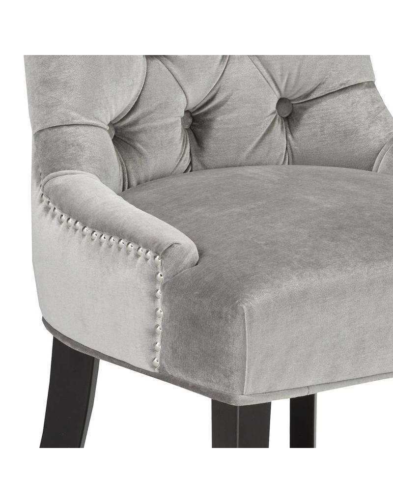 Xcella Petra Grey Velvet Dining Chair