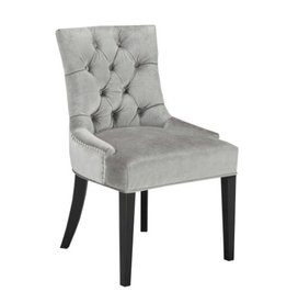Xcella Petra Grey Velvet Dining Chair