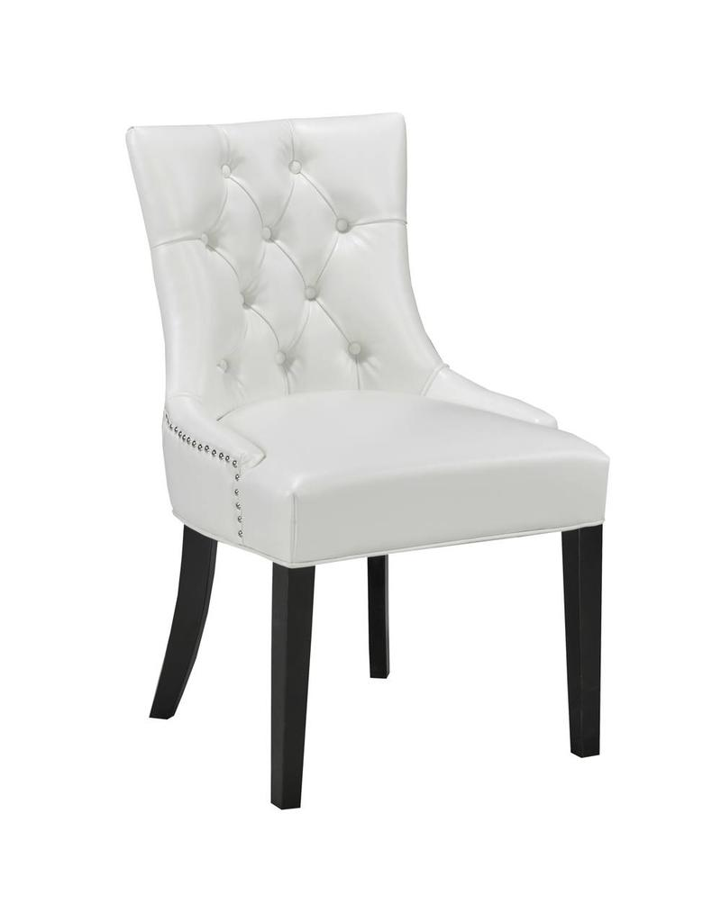 Petra Dining Chair White Leatherette