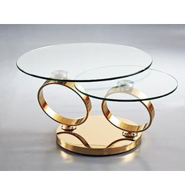 Creative Home Decor Rings Swivel Coffee Table Gold