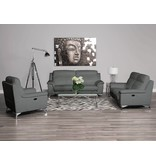 Carson Power Reclining Sofa Grey